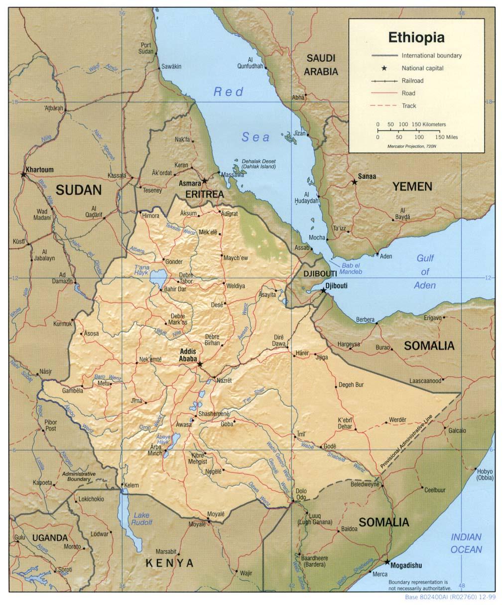 Free Ethiopia Maps on