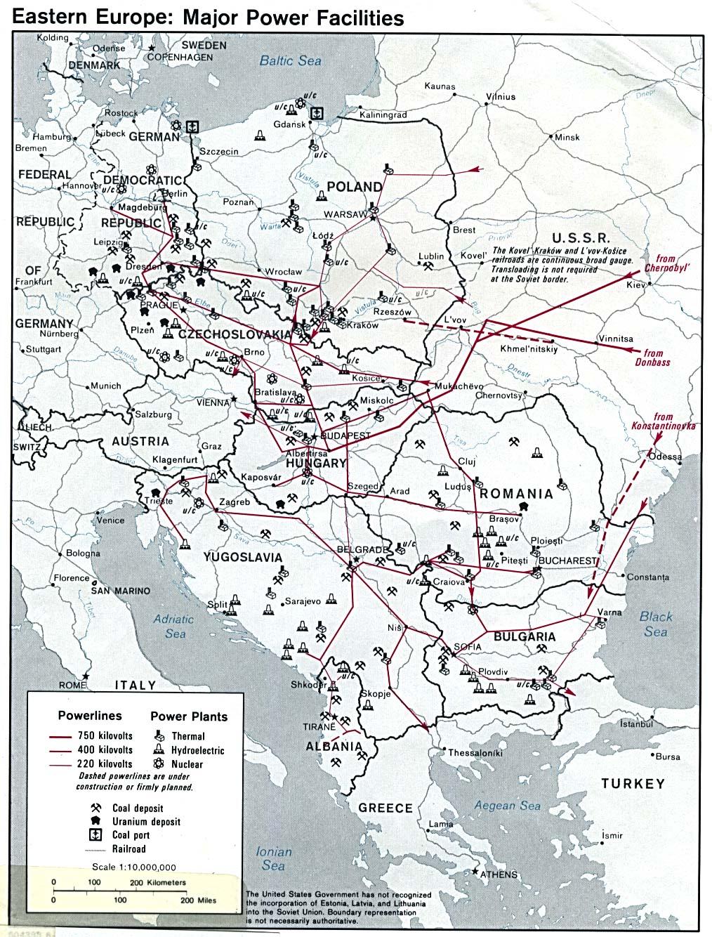 eastern europe major power facilities