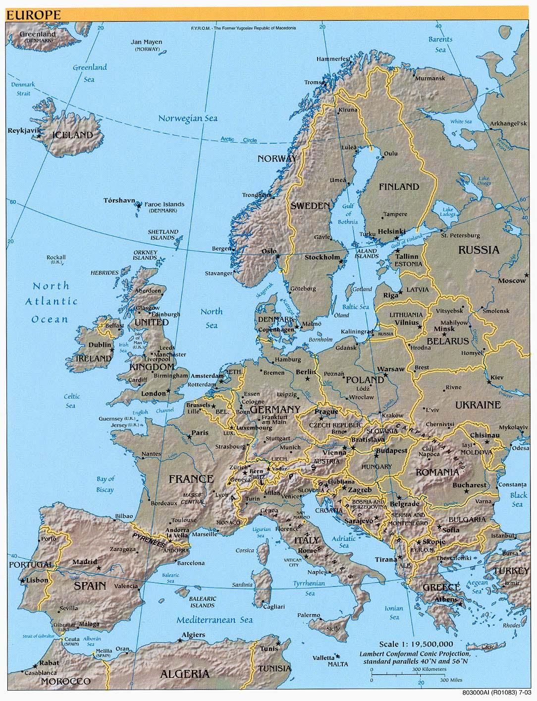 download free europe maps
