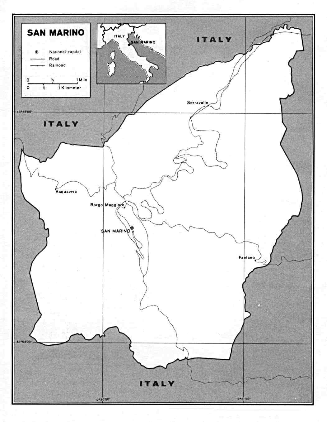 Free Europe Maps - San marino map download