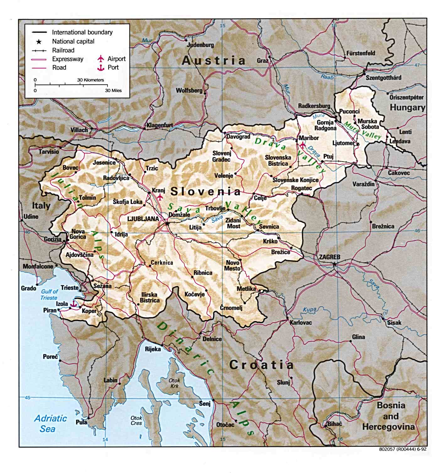 Free Europe Maps - Slovenia map download