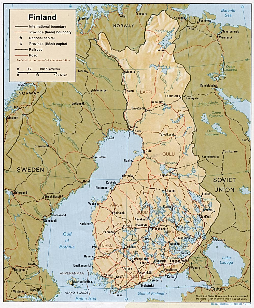 Download Free Finland Maps