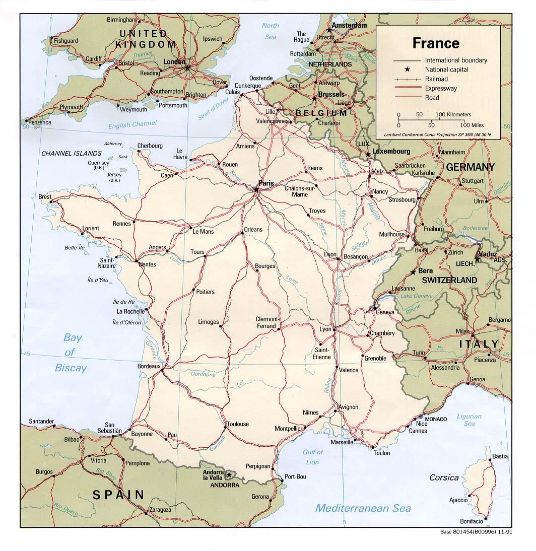 Frankreichkarte: große interaktive karte von frankreich.