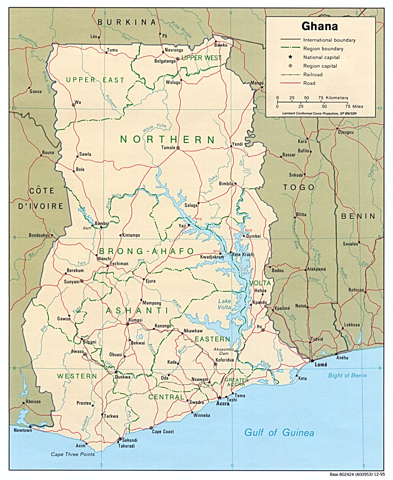 Map of northern ghana indicating the study districts | download.