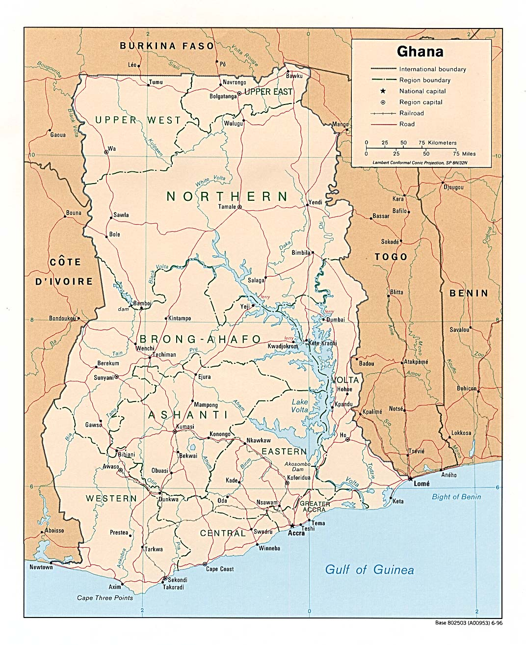 Download free ghana maps.