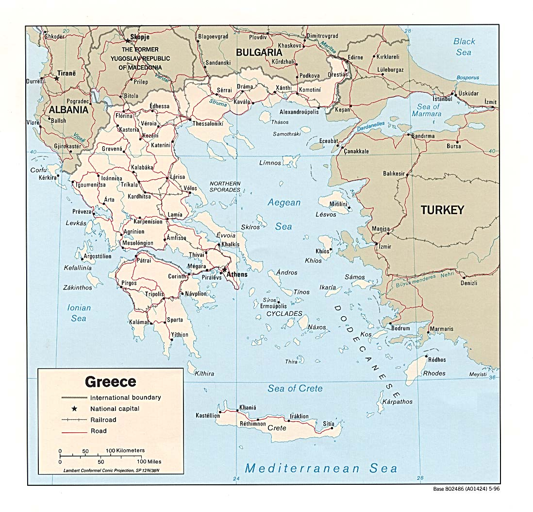 Download Free Greece Maps