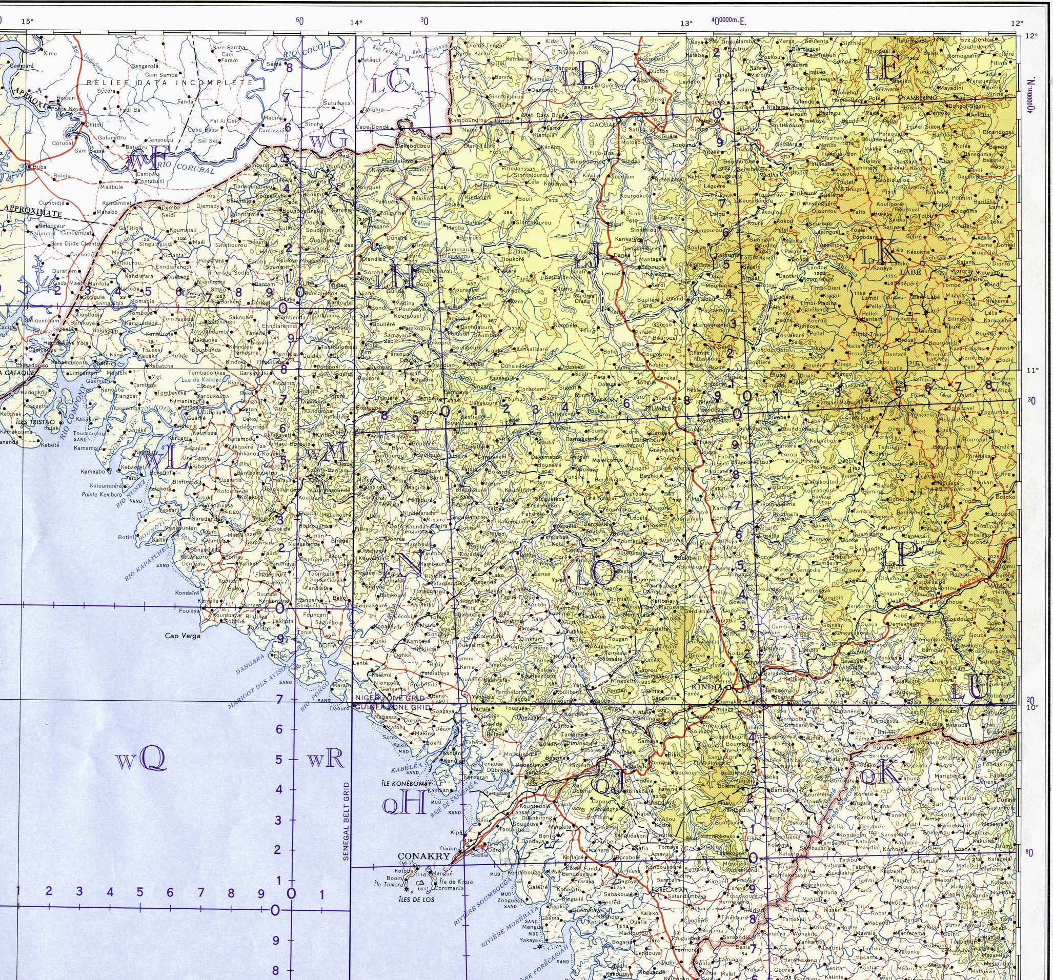 Download free guinea maps guinea central and west 11000000 publicscrutiny Image collections