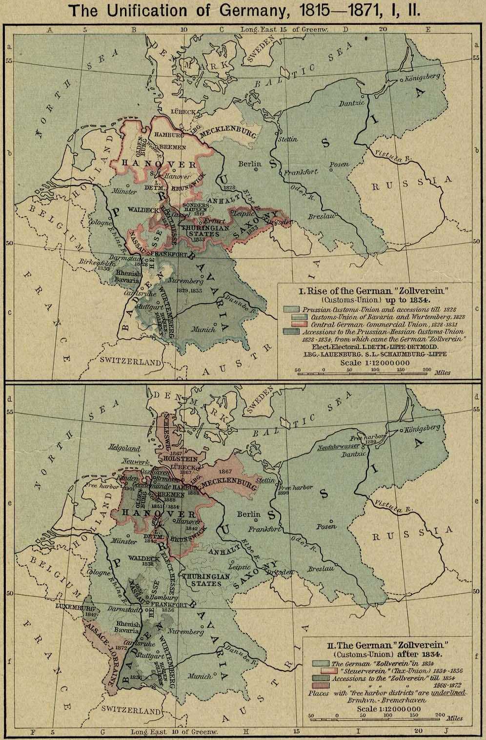 prussia oriental mapa