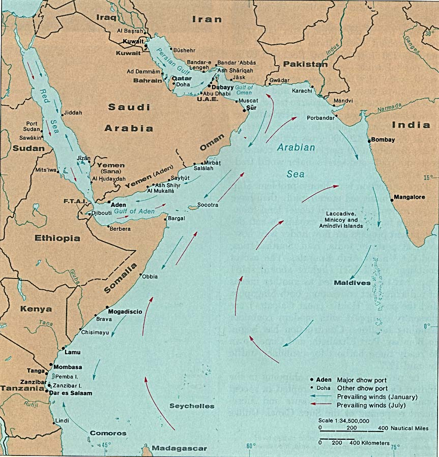 Download free indian ocean maps indian ocean dhow ports gumiabroncs Image collections