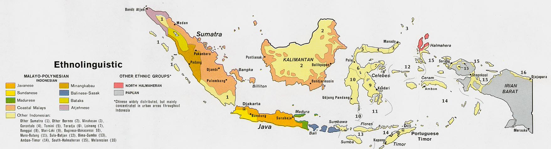 Climate Map Of Indonesia Indonesia - Ethnolinguistic