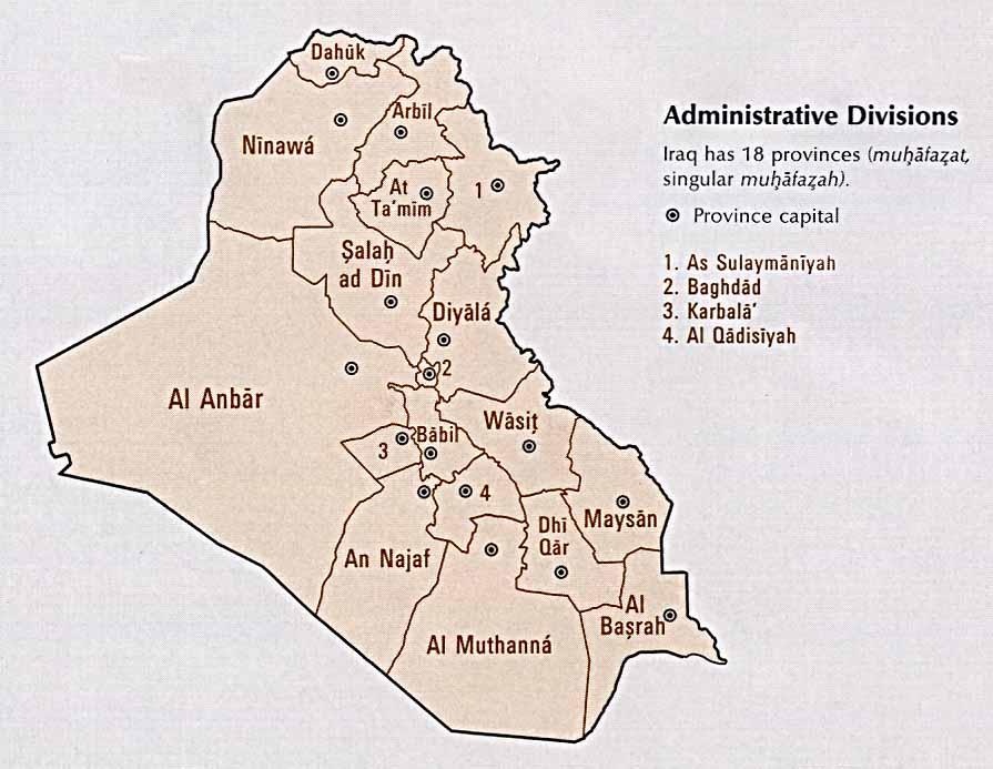 iraq administrative divisions