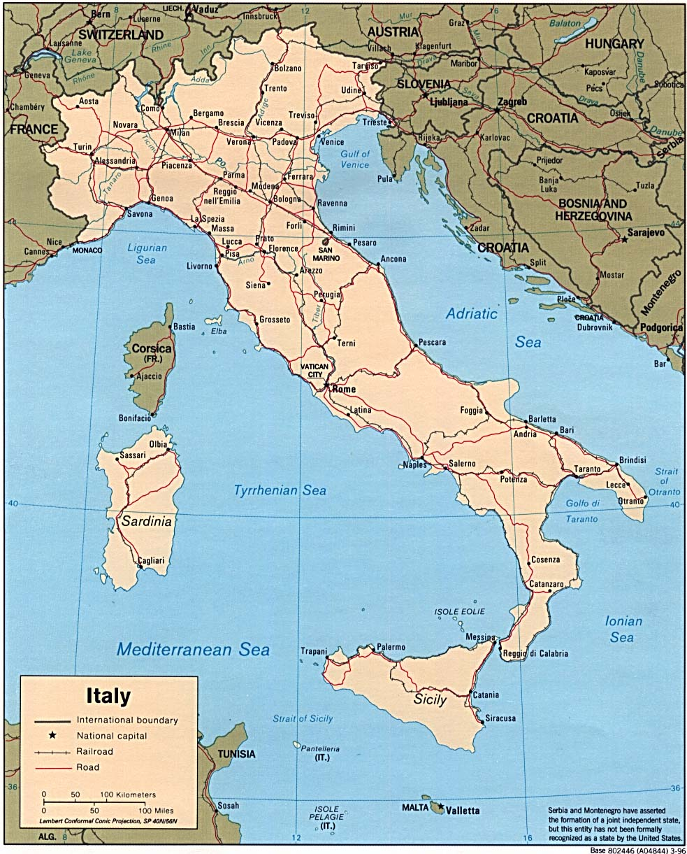 Free Map Of Italy.Download Free Italy Maps