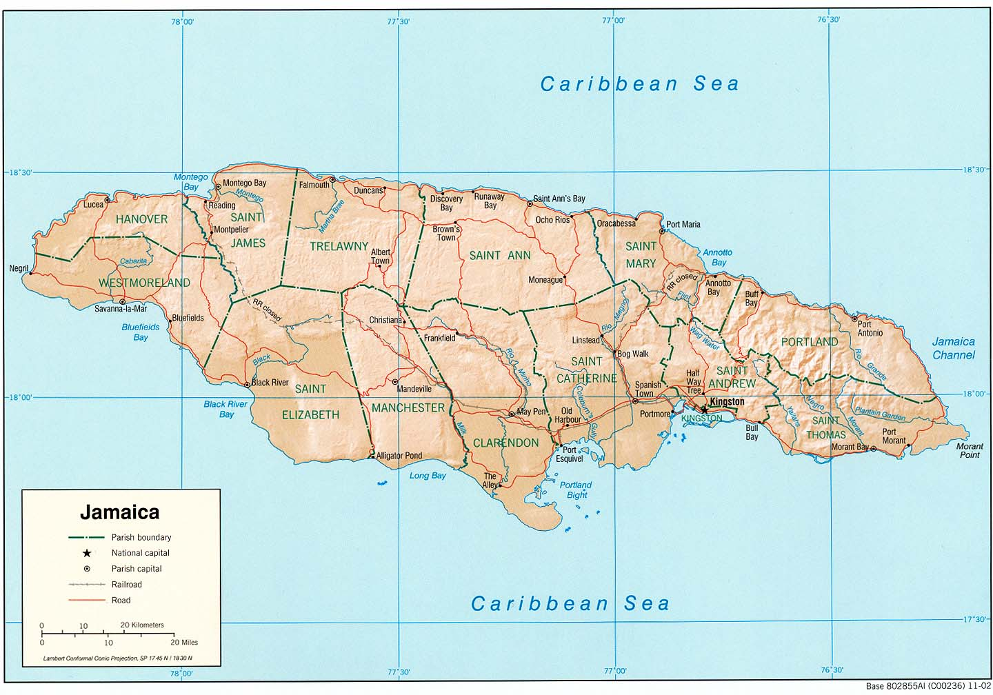 Download Free Jamaica Maps
