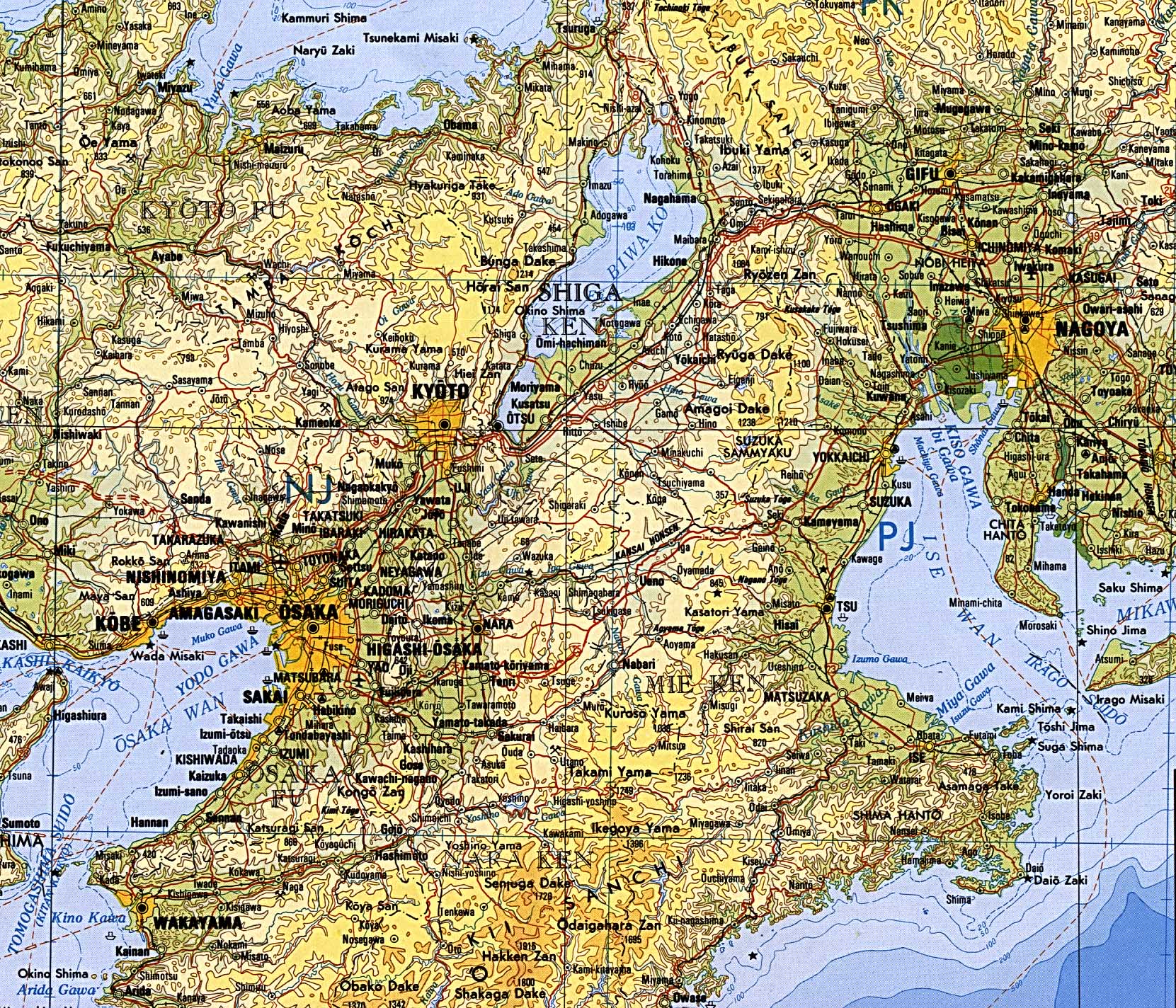 Download Free Japan Maps