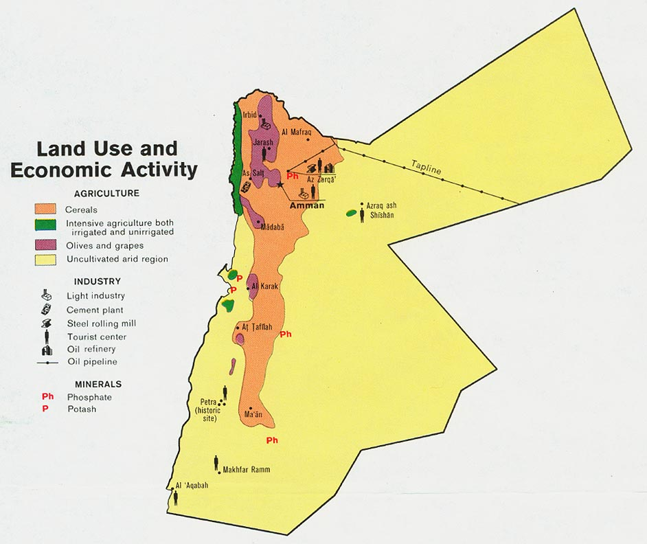 Download Free Jordan Maps - Jordan map download