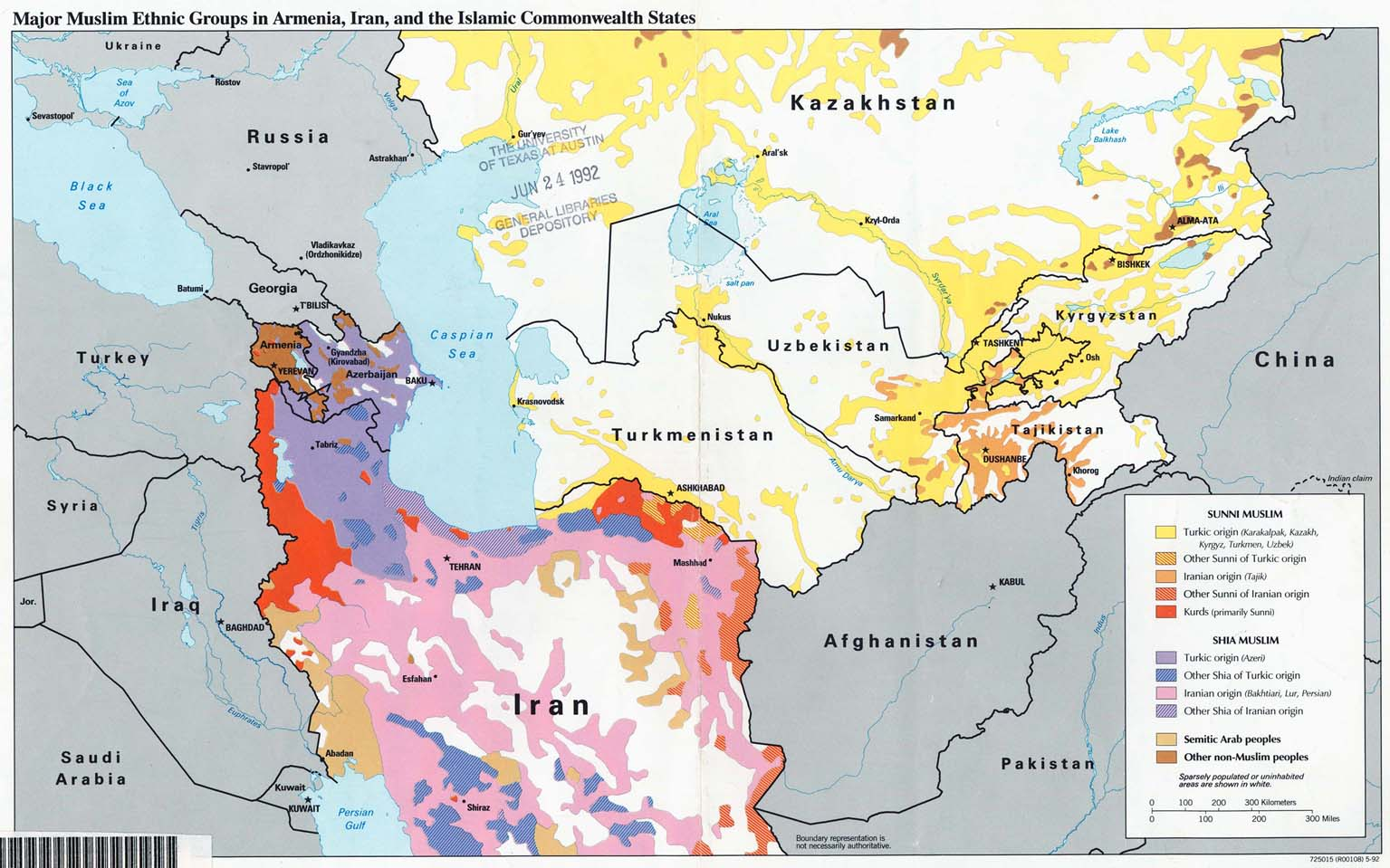 Download free kazakhstan maps major muslim ethnic groups in armenia iran and the islamic commonwealth states gumiabroncs Choice Image