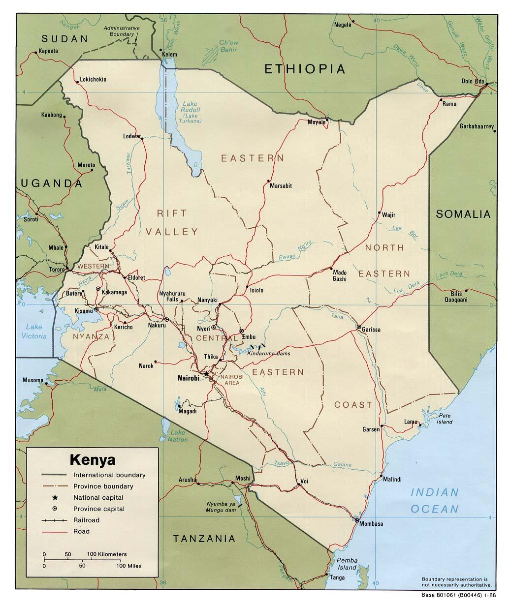 Download Free Kenya Maps - Kenya rivers map