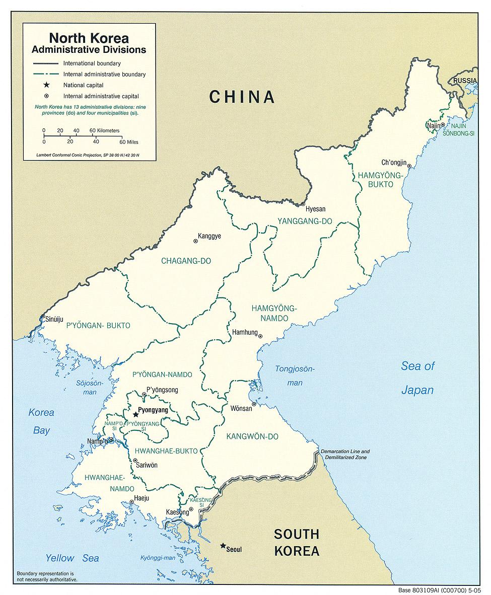 Download free north korea maps north korea administrative gumiabroncs Choice Image