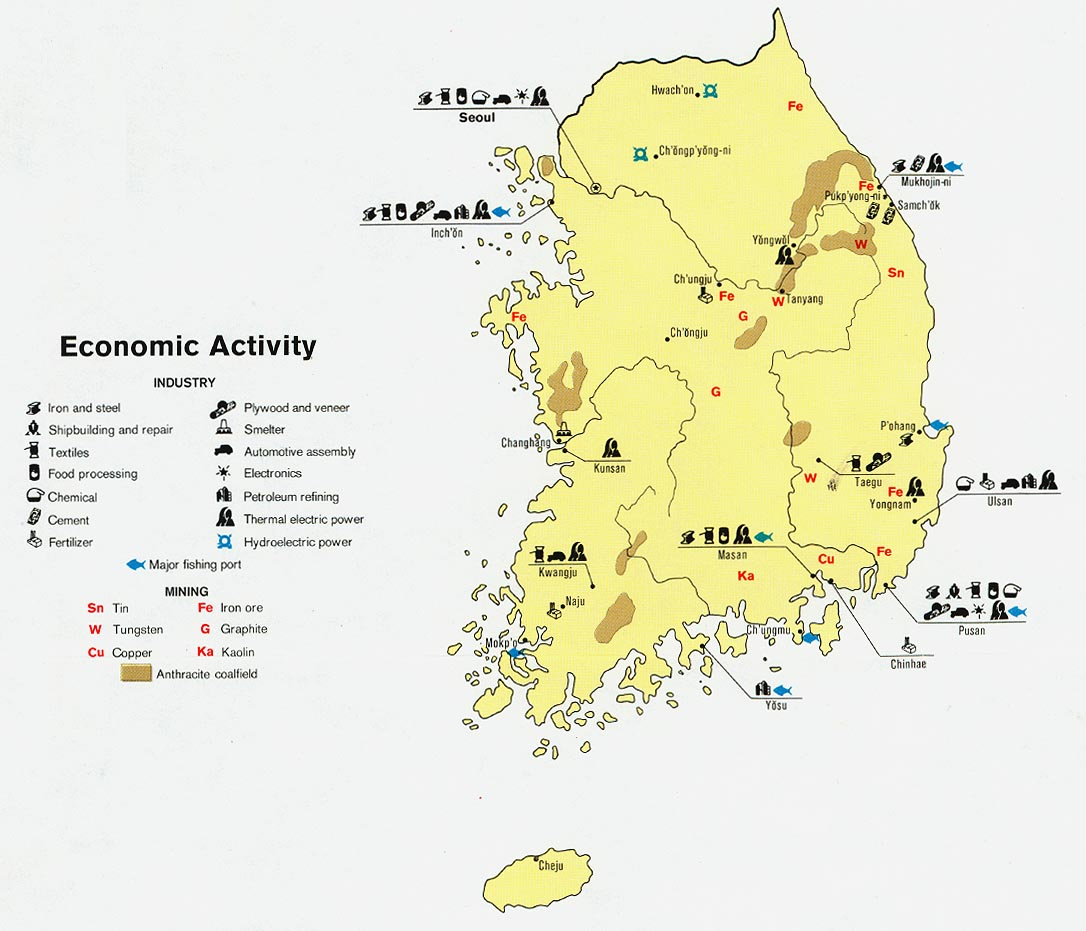 Major Natural Resources In South Korea