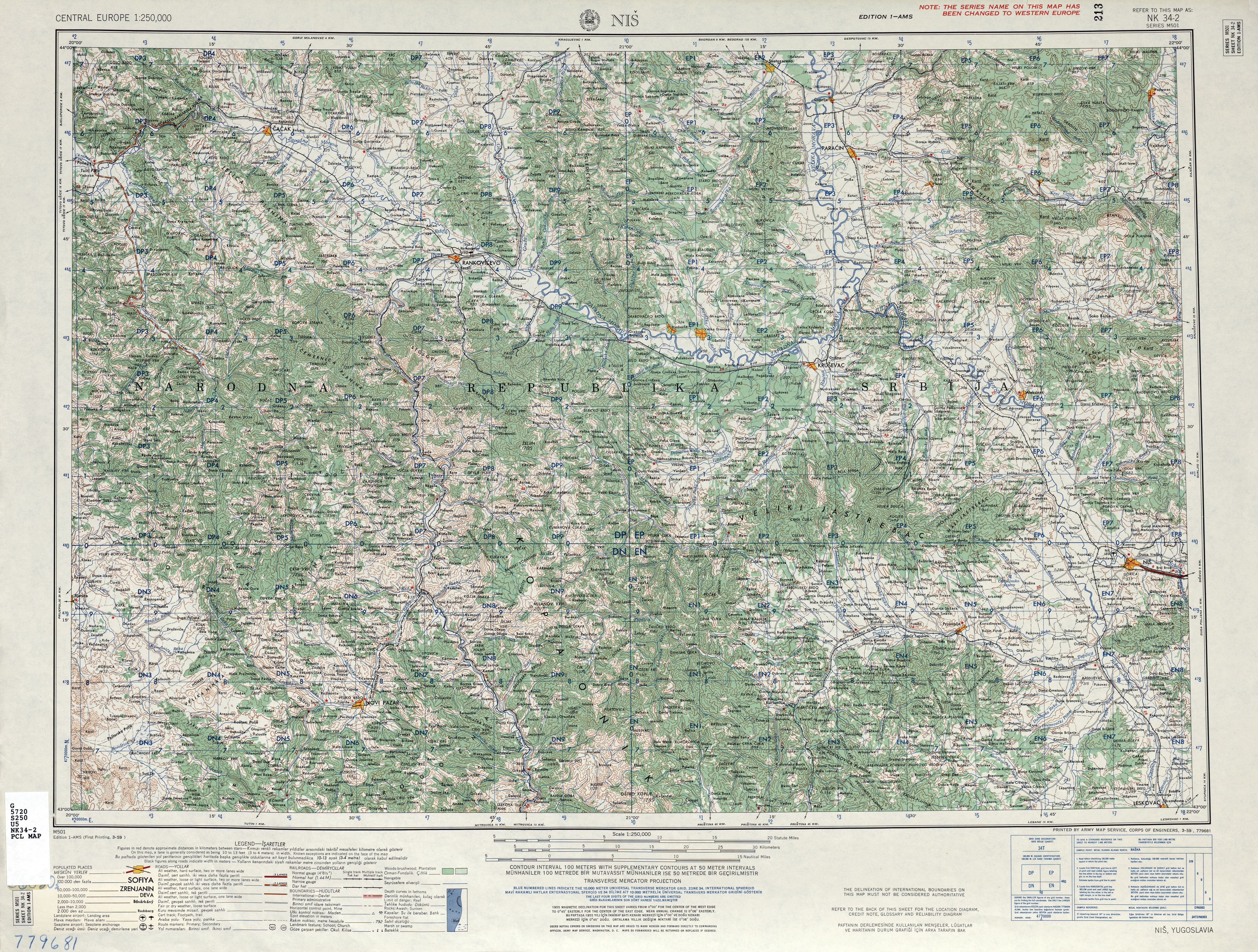 Nis Sheet Nk 34 2 U S Army Map Service Corps Of Engineers