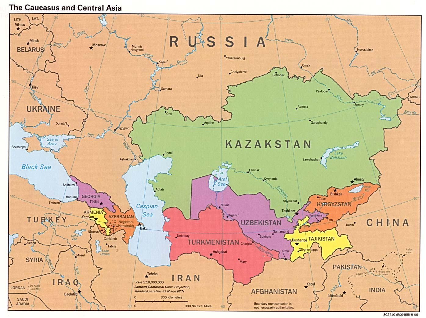 Download Free Kyrgyzstan Maps