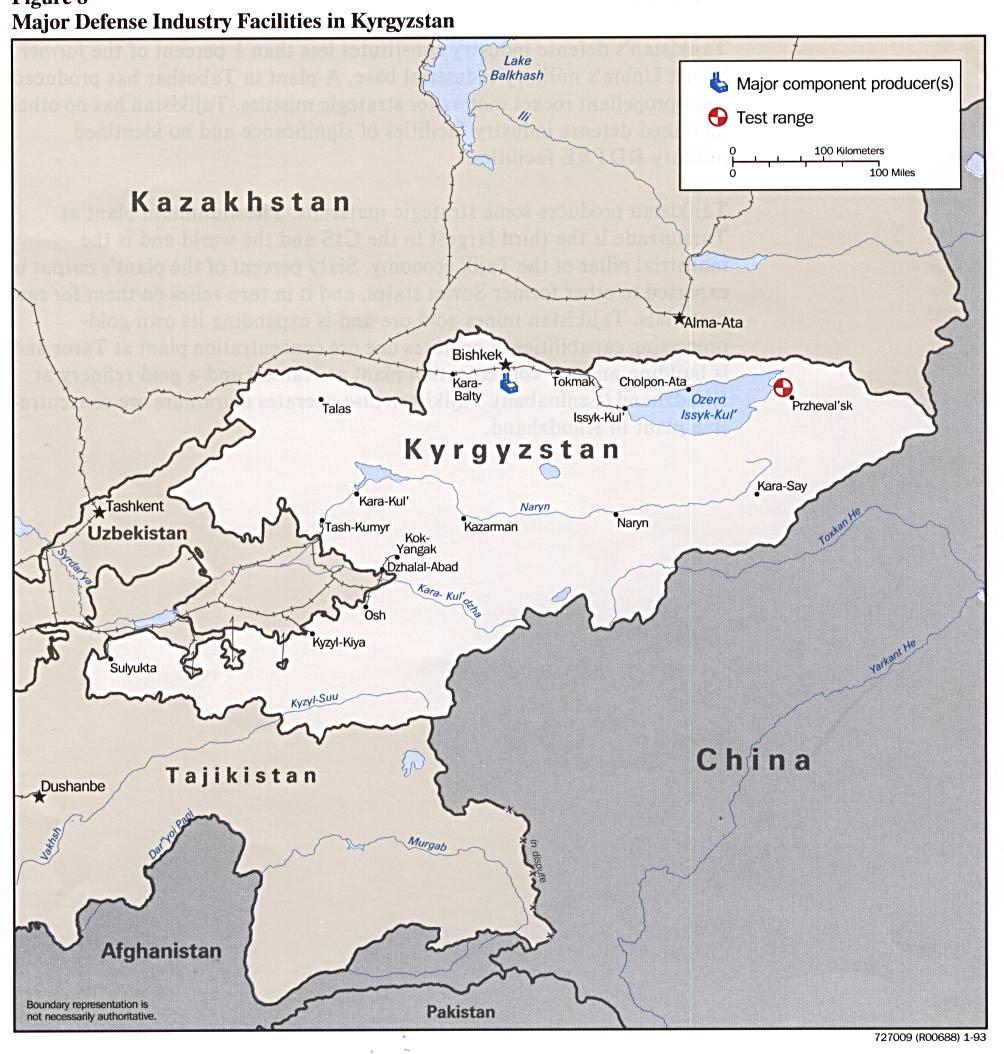 Download free kyrgyzstan maps major defense industries in kyrgyzstan publicscrutiny Gallery