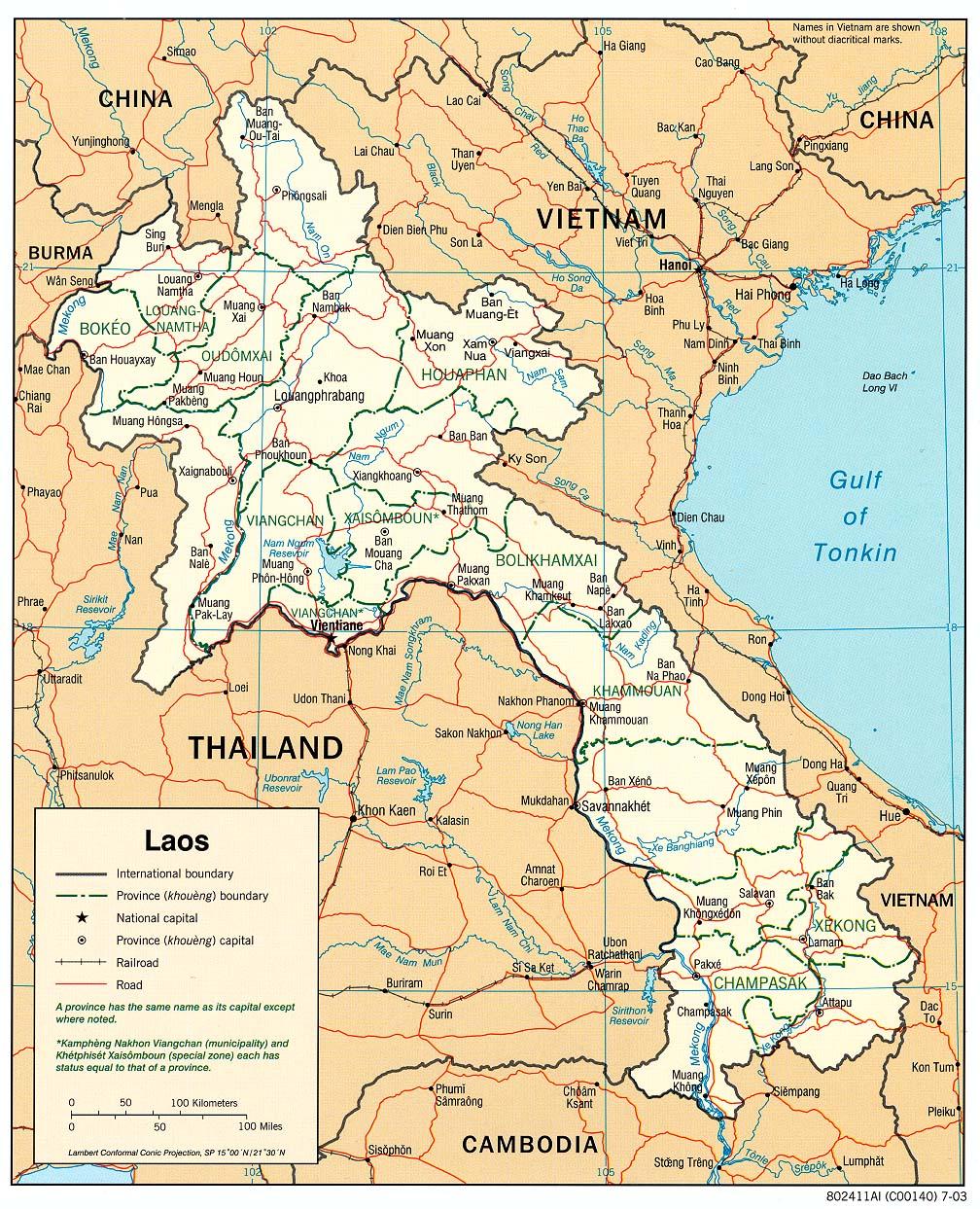 Laos Ist Der Einzigste Binnenstaat In Sudostasien