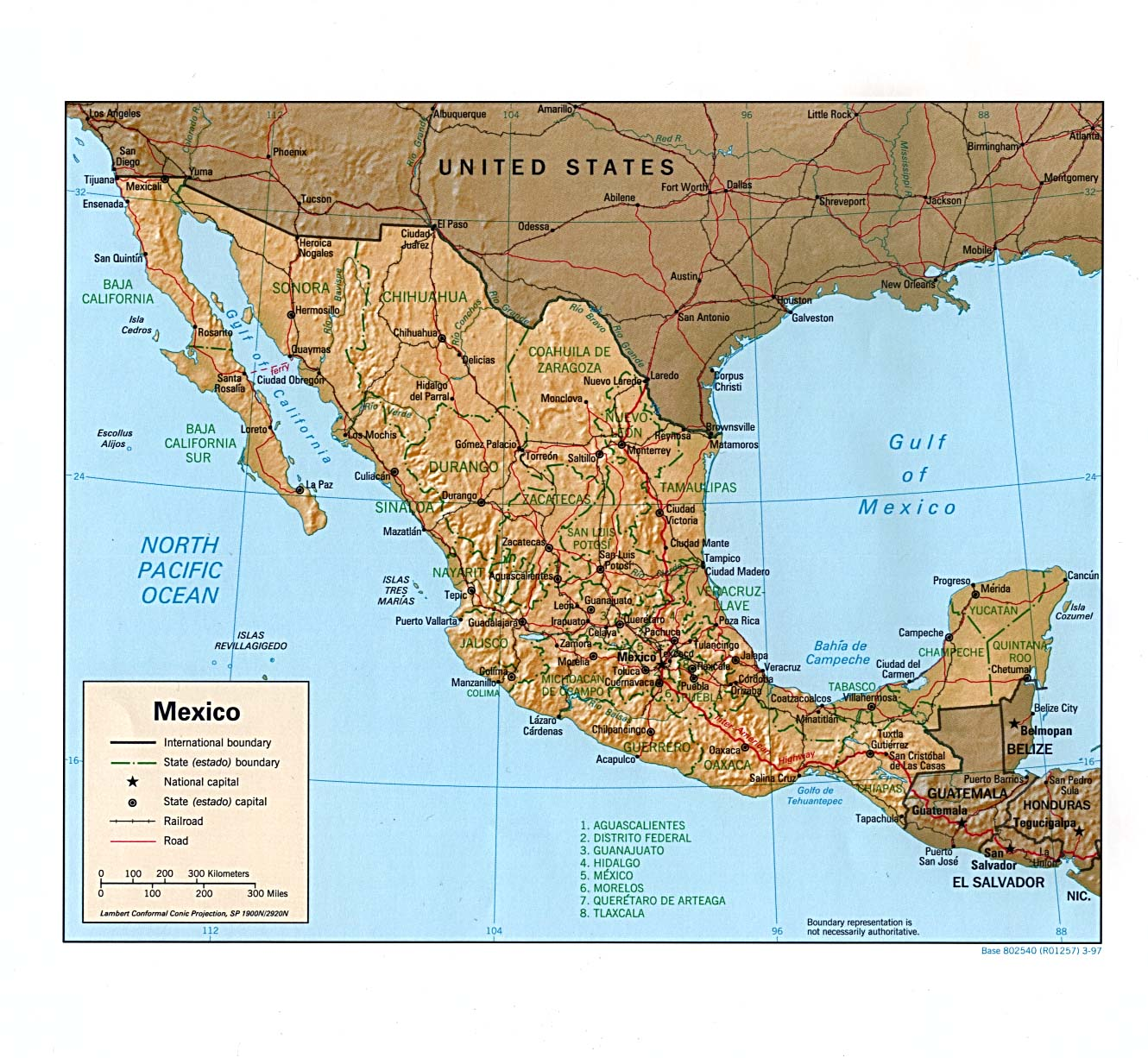 mexico shaded