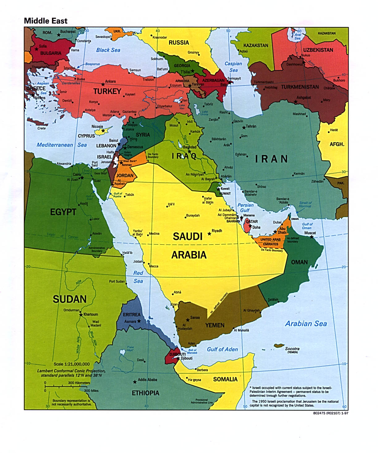Download Free Middle East Region Maps