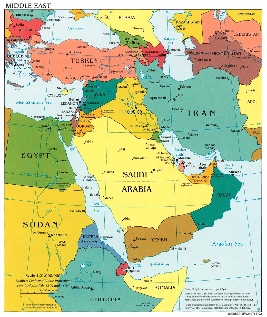 Map Of Middle East 1920