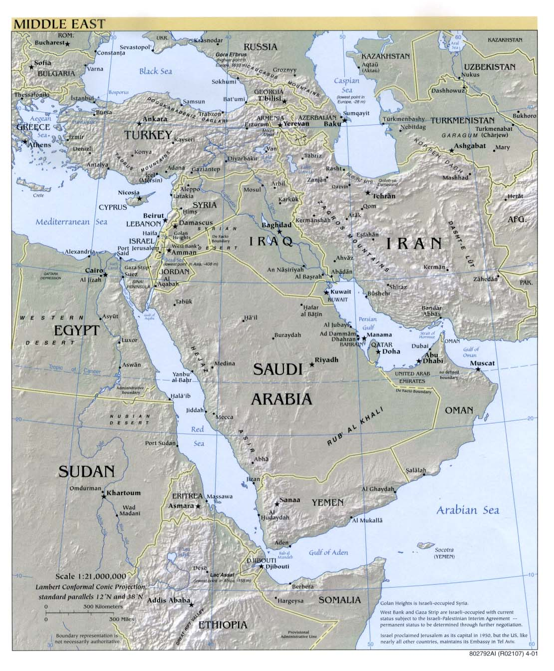 Free middle east region maps middle east reference gumiabroncs Image collections