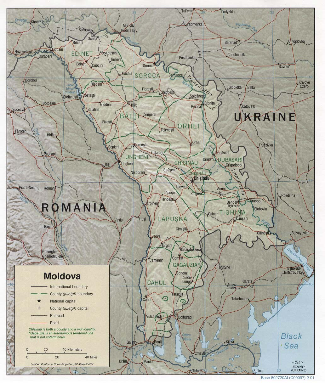Download Free Moldova Maps