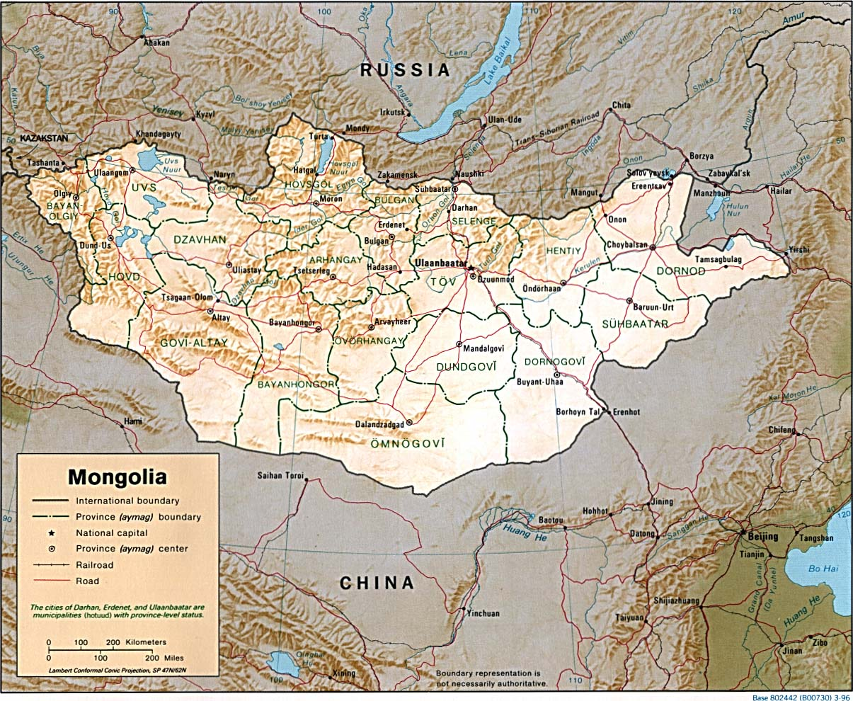 Download Free Mongolia Maps - World river map download