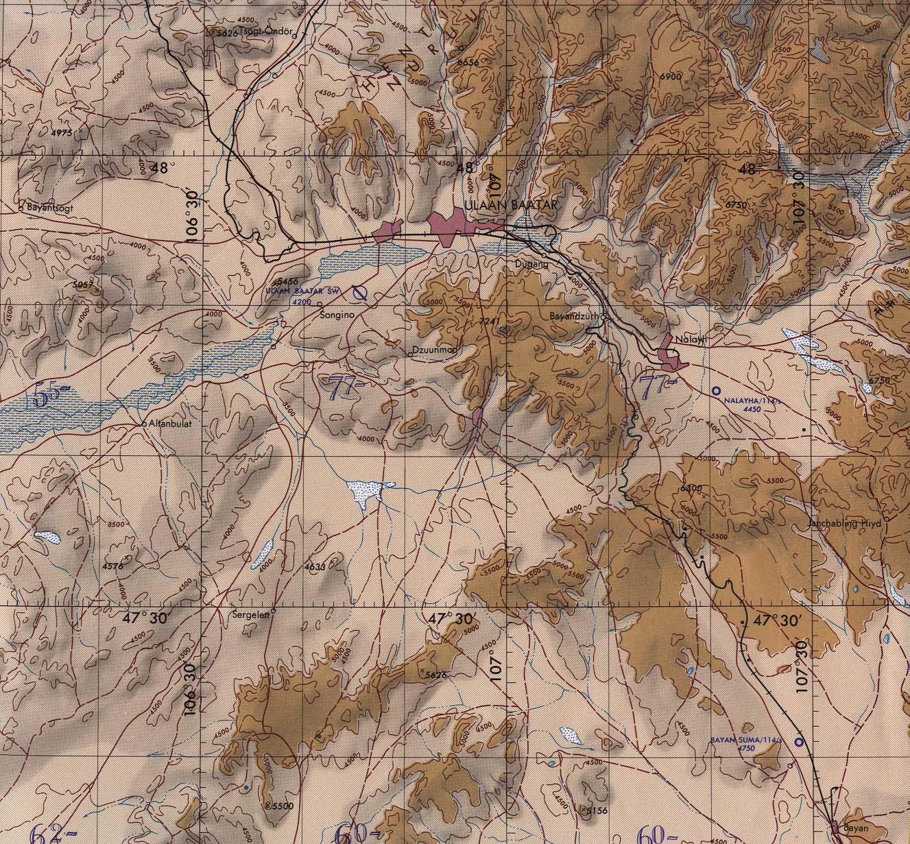 Mongolia road map.
