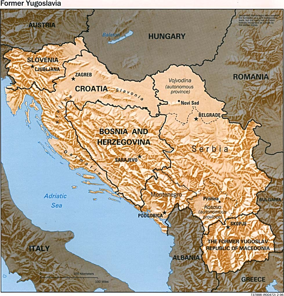 Download Free Montenegro, Serbia, Yugoslovia Maps