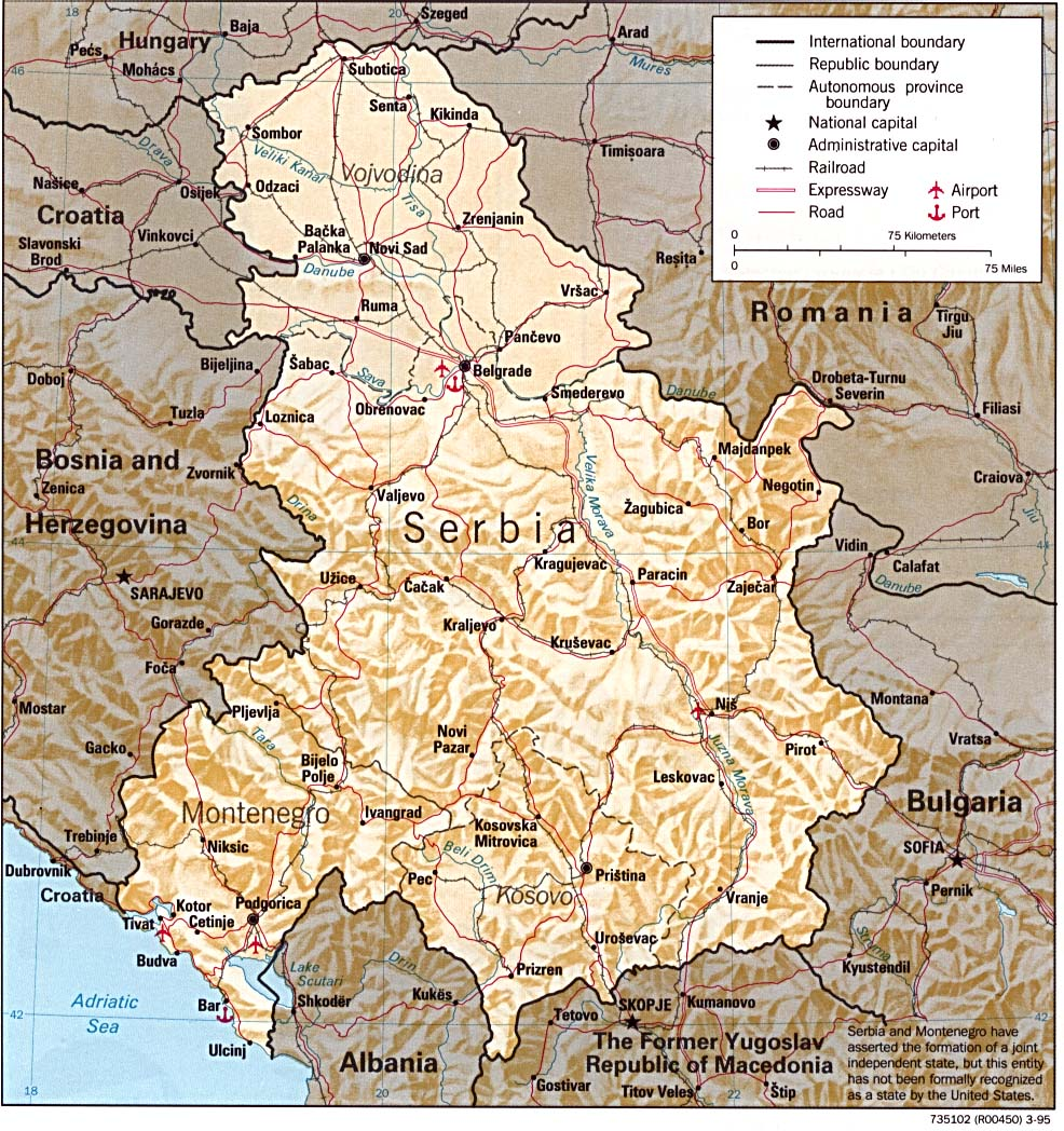 Download Free Montenegro Serbia Yugoslovia Maps
