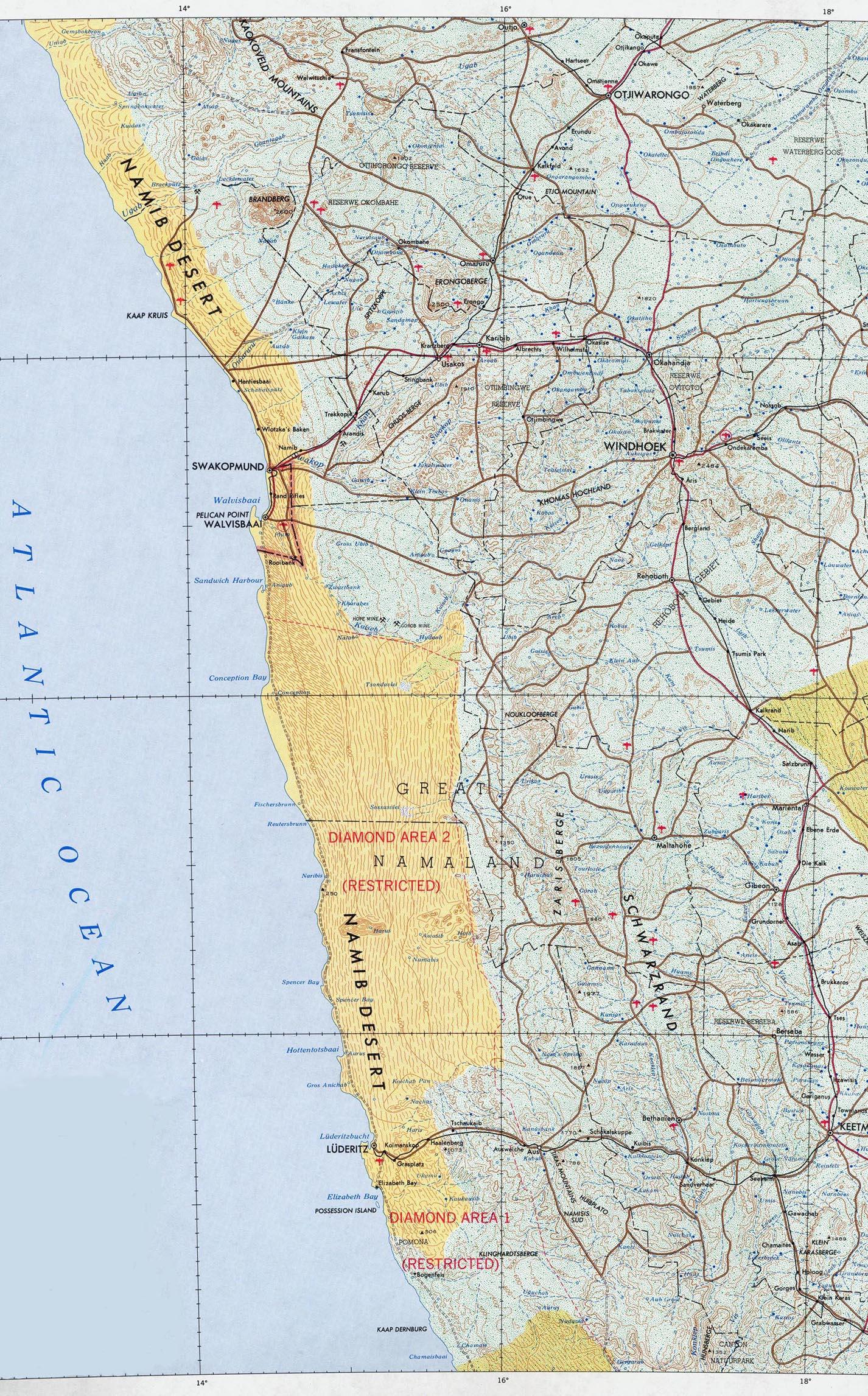 Karte Namibia Download.Download Free Namibia Maps