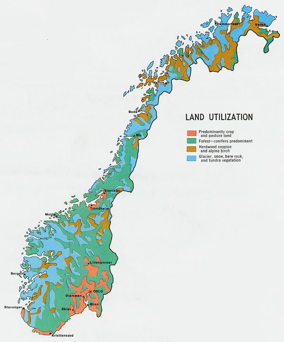 Download Free Norway Maps - Norway map districts