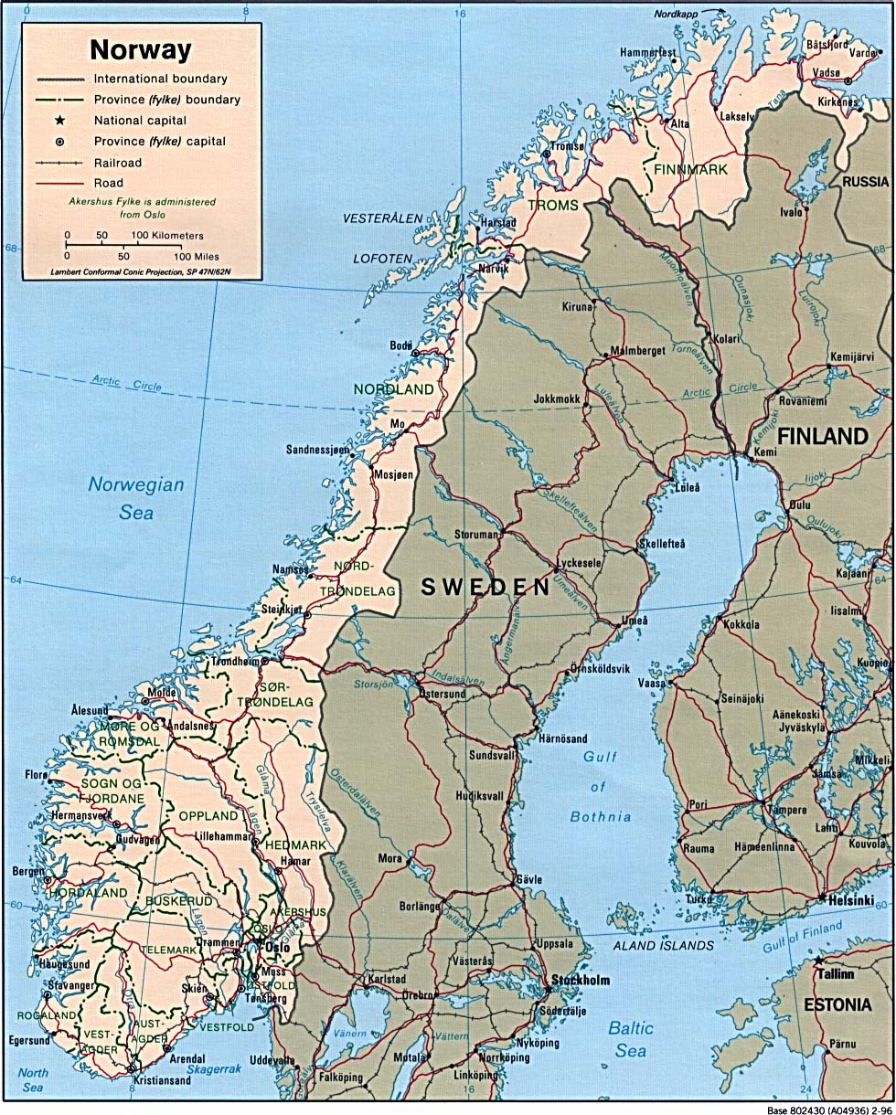 Download Free Norway Maps