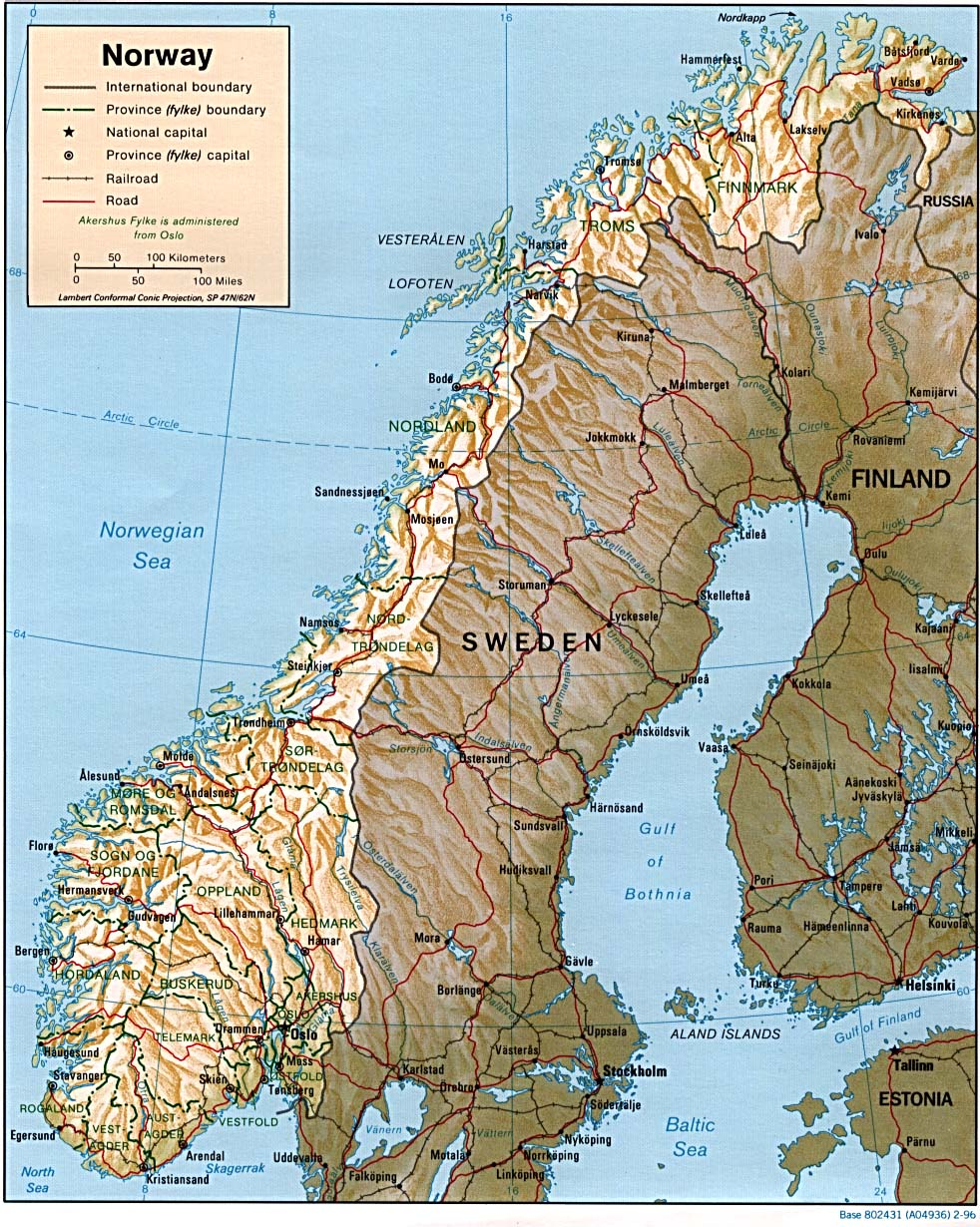 Download Free Norway Maps - Map of norway