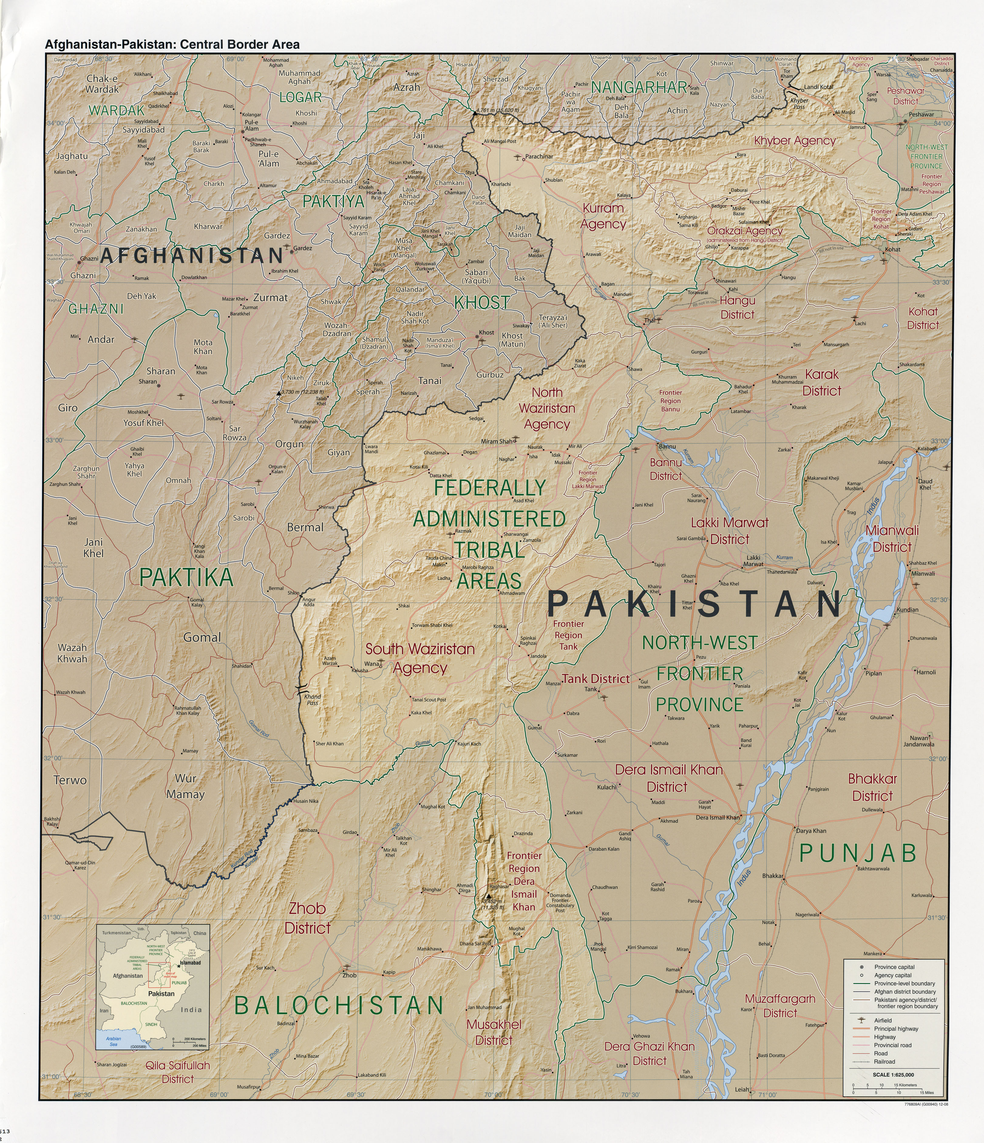 Download free pakistan maps afghanistan pakistan central border area gumiabroncs Gallery