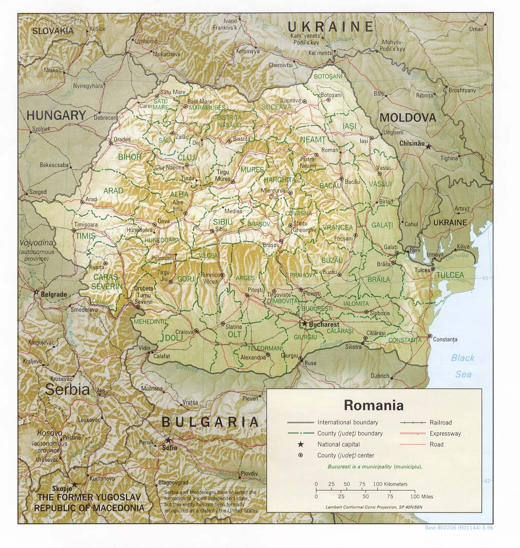 Download Free Romania Maps