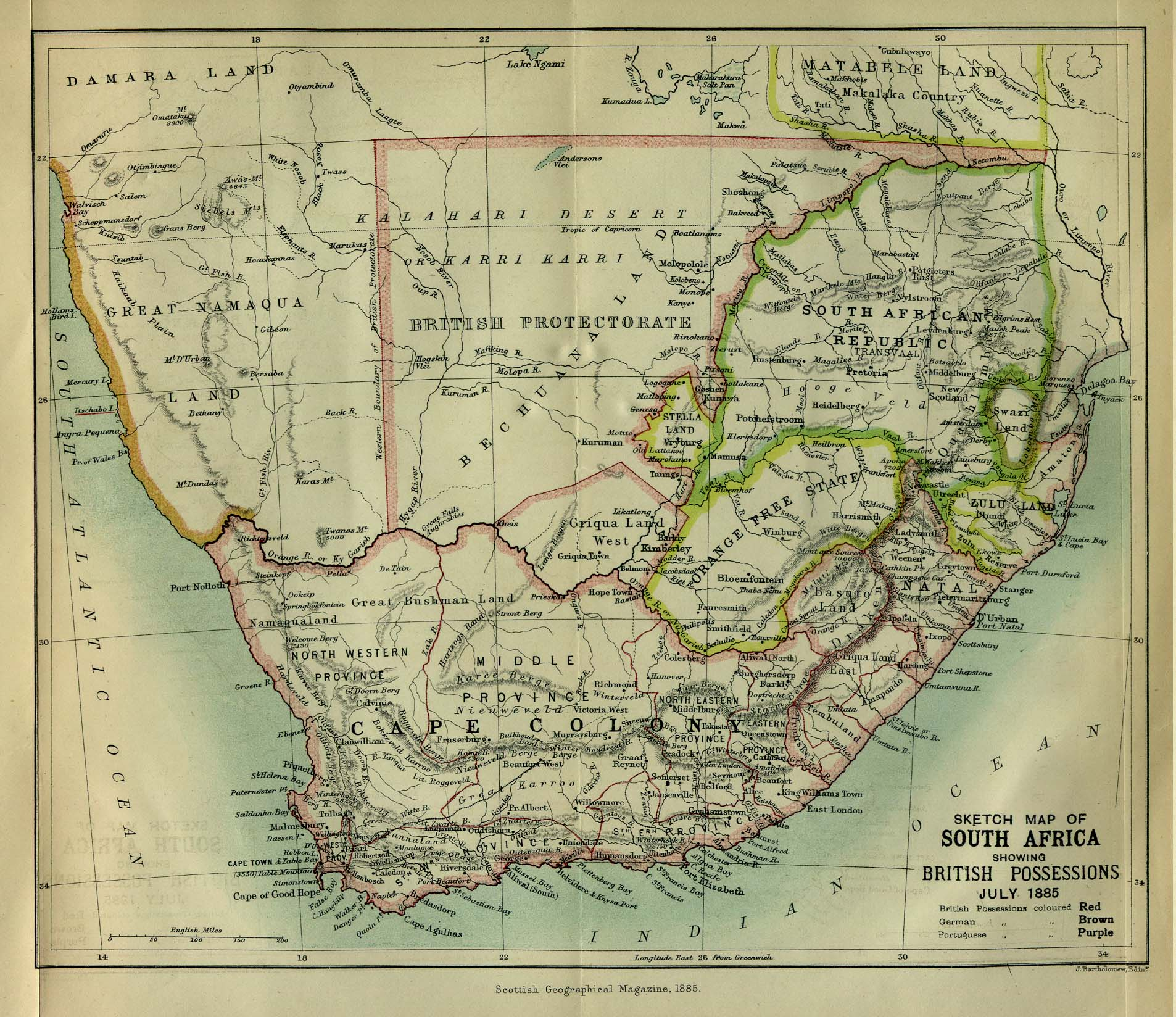 southern africa map download