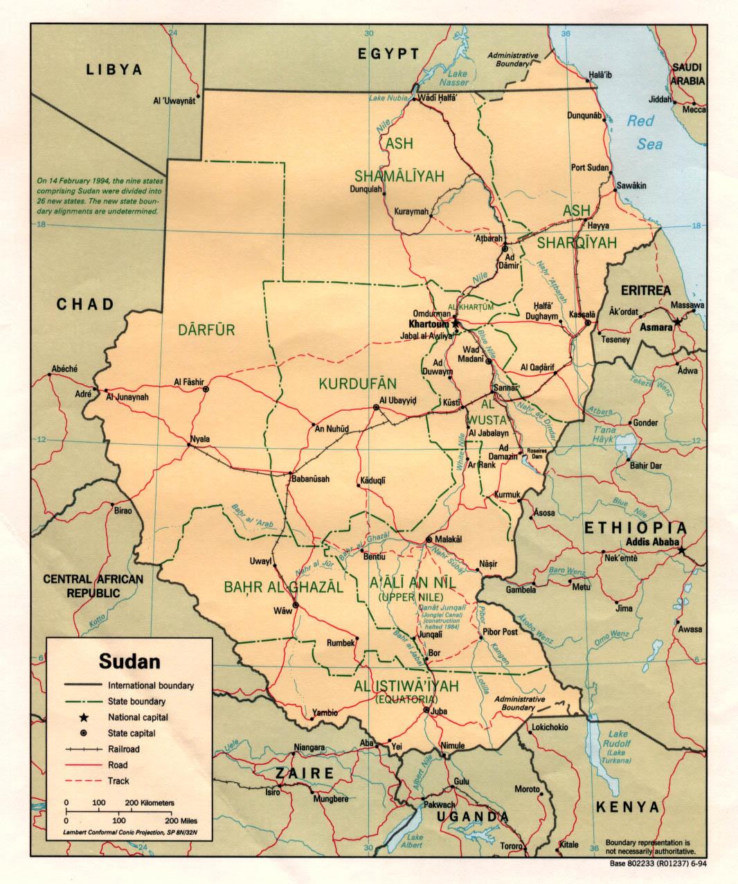 Download Free Sudan Darfur Maps - Sudan map download