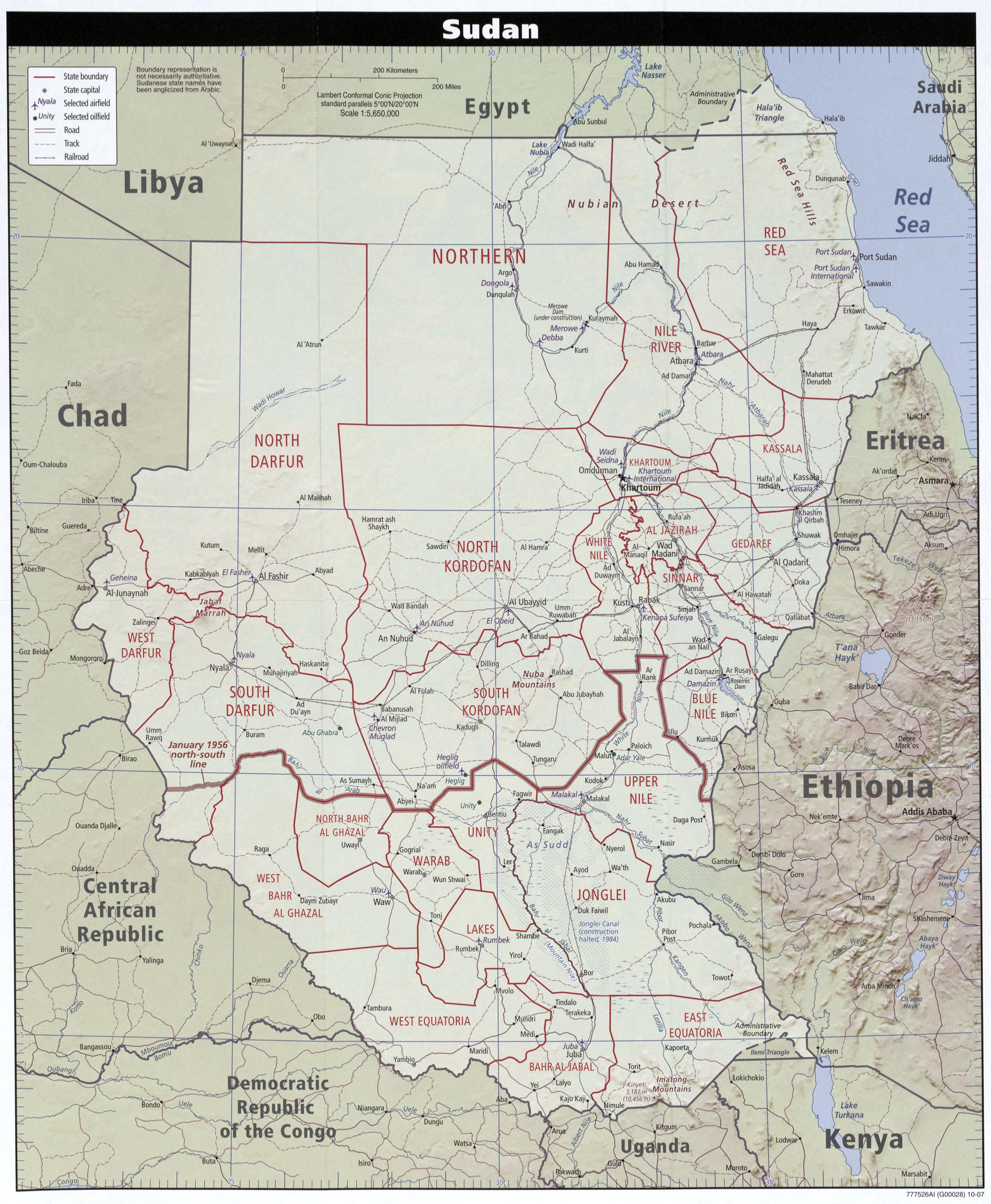 Download Free Sudan Darfur Maps on