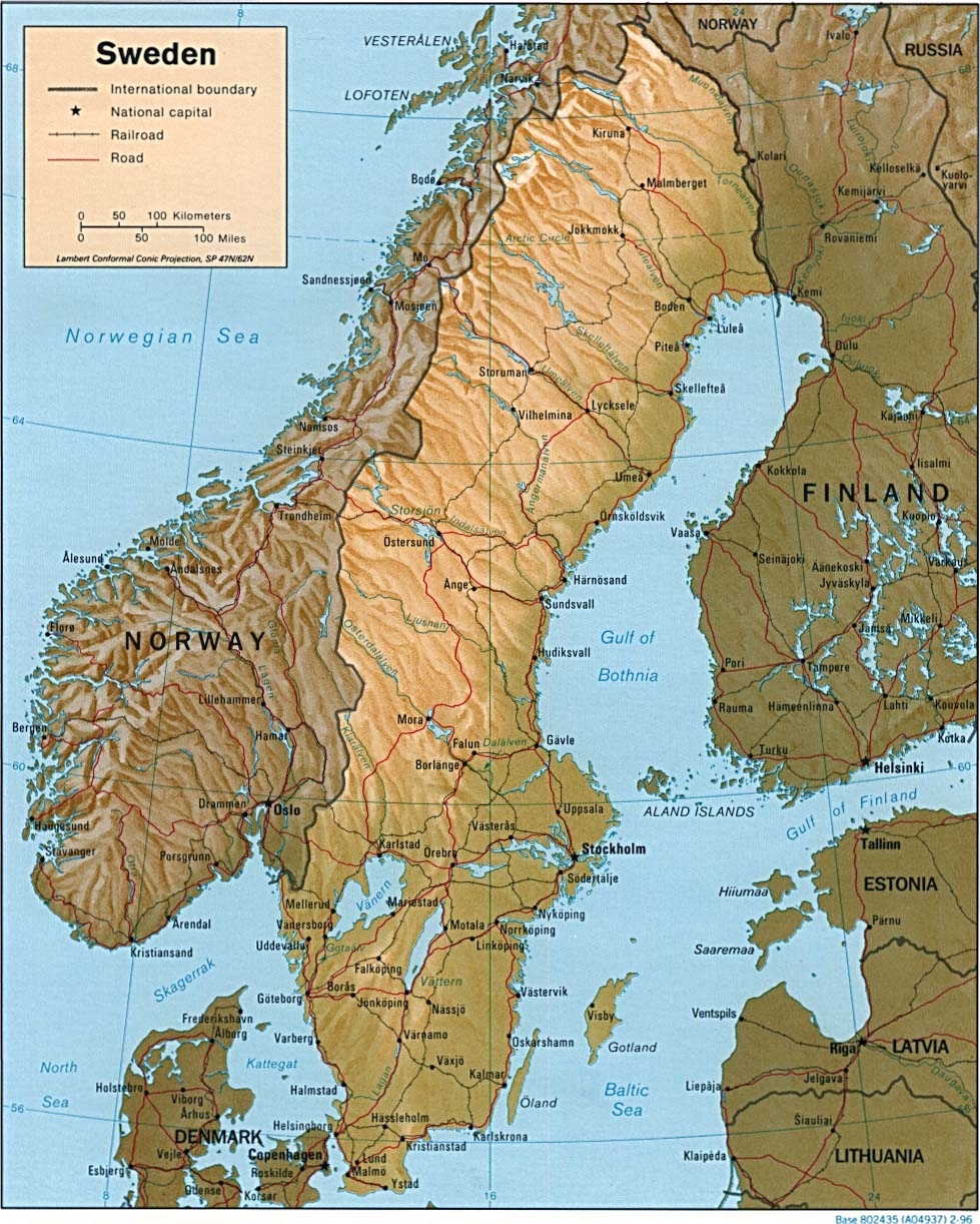Download Free Sweden Maps
