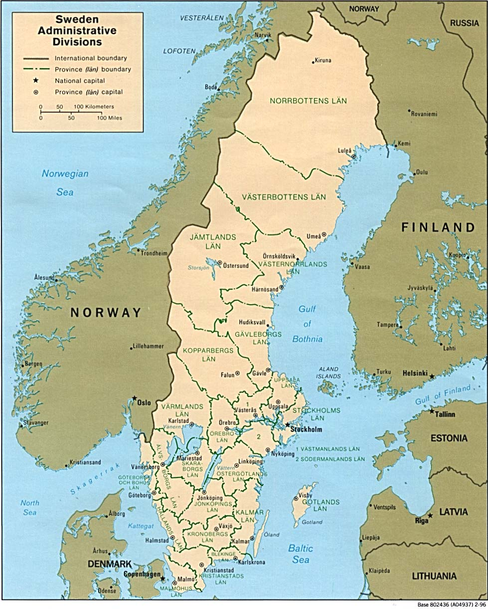Download Free Sweden Maps - Sweden map free