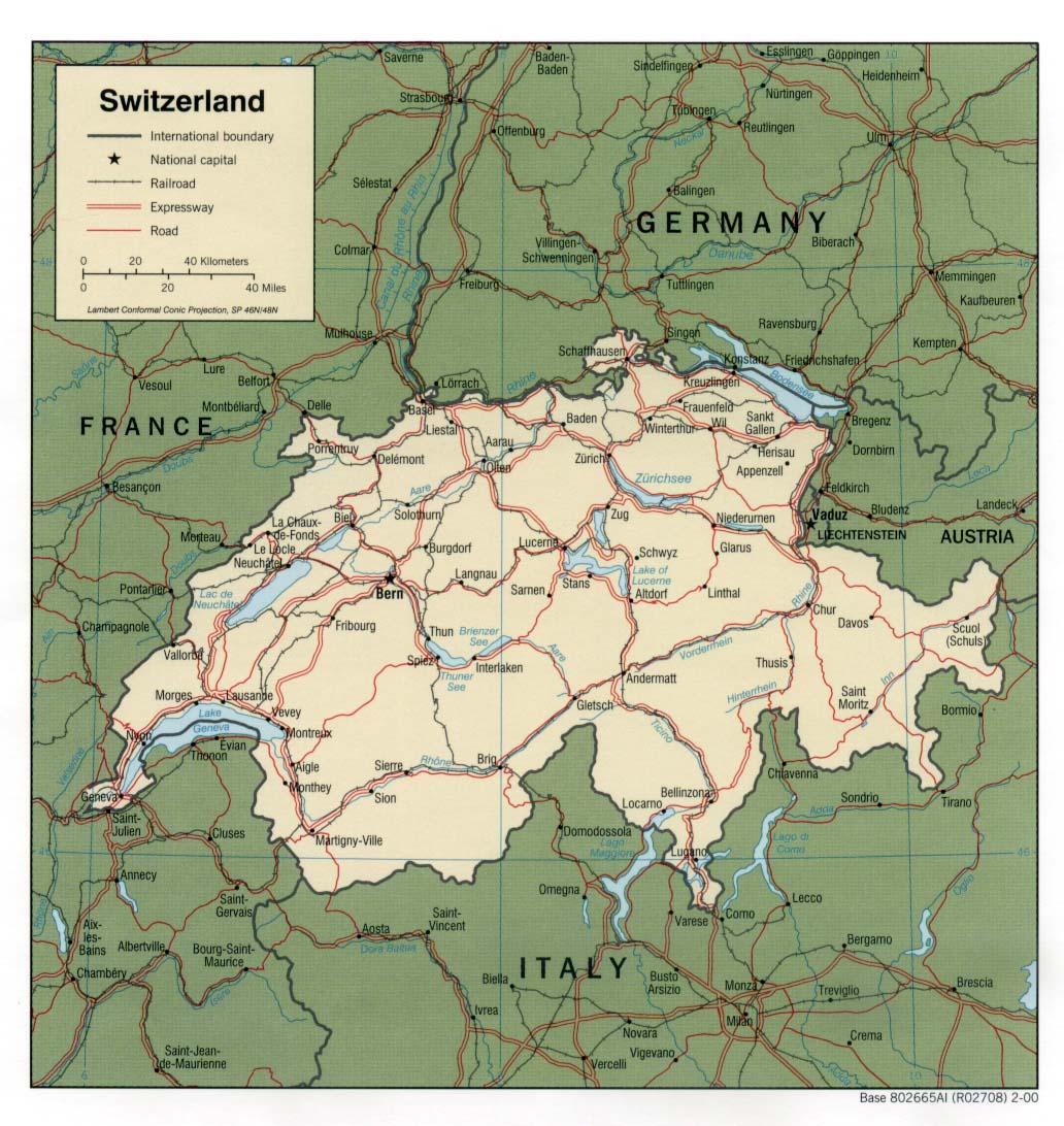 Download Free Switzerland Maps