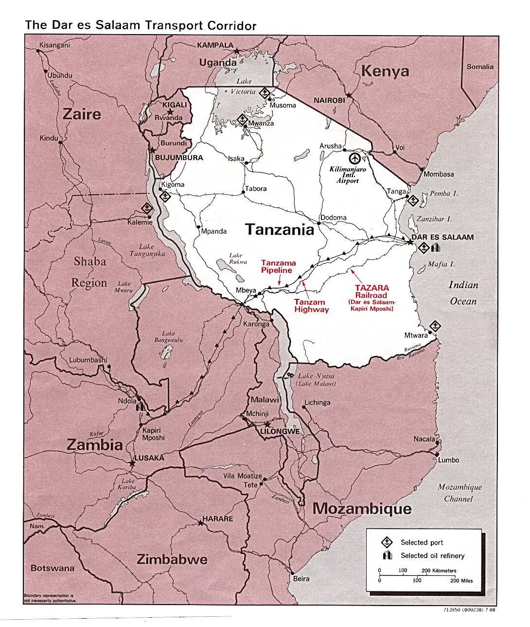 Download Free Tanzania Maps - Tanzania map download