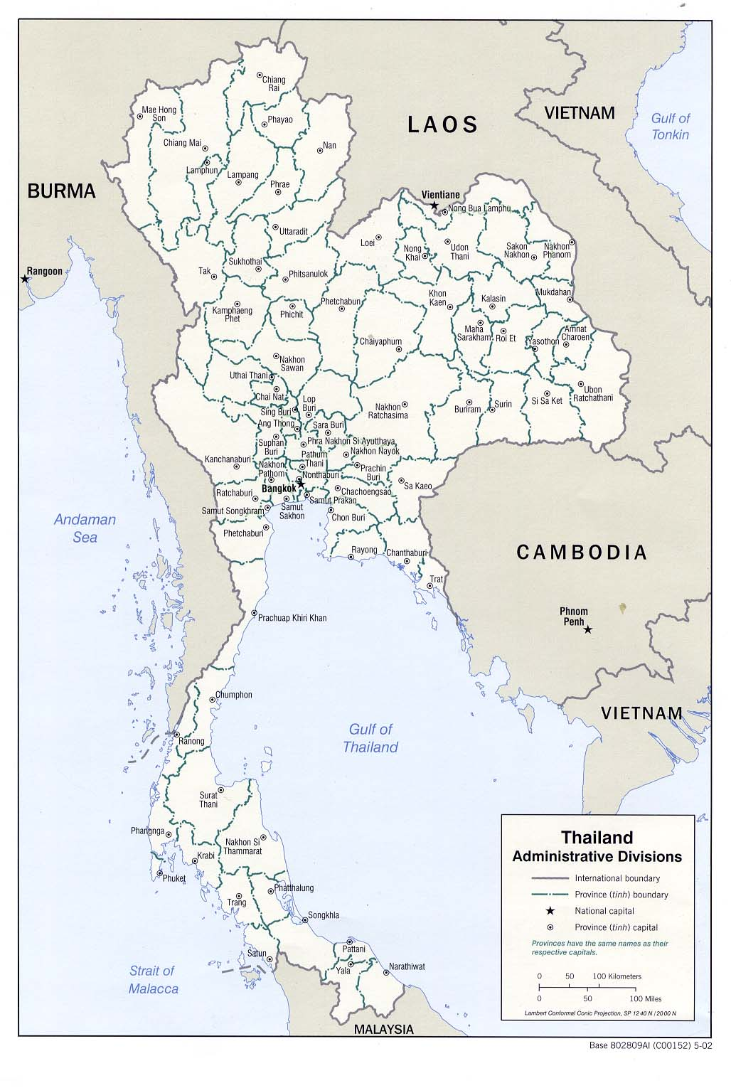 It's just an image of Printable Map of Thailand with thai